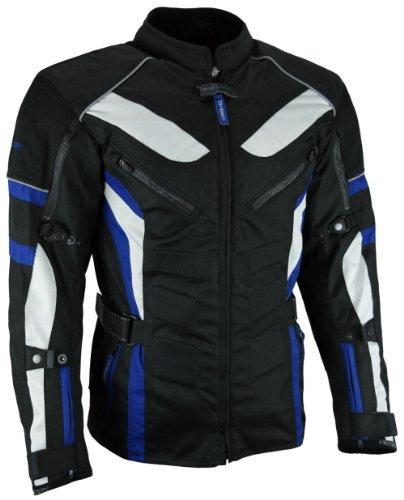 *Heyberry Touren Motorrad Jacke Motorradjacke Textil schwarz blau Gr.XL*