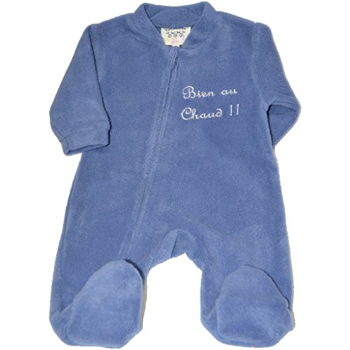 Les Chatounets - Surpyjama polaire - Bleu - 6 mois
