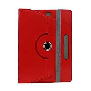 Fastway Designer Rotating Leather Flip Case For Samsung Galaxy Tab Active-Red