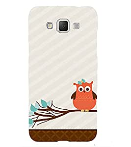 Small owl 3D Hard Polycarbonate Designer Back Case Cover for Samsung Galaxy Grand Max