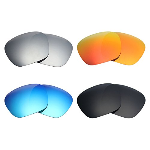 57edede0cc0 MRY 4 Pairs POLARIZED Replacement Lenses for SPY Optic Discord Sunglasses-Stealth  Black Fire Red Ice Blue Silver Titanium - Buy Online in Oman.