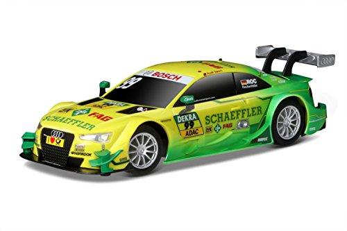 Maisto Tech R/C Audi DTM 2015 Team Phoenix 99 Mike Rockenfeller: Ferngesteuertes Auto mit Pistolengriff-Fernsteuerung, 8.6 km/h, 20 cm, grün-gelb (581194-99)