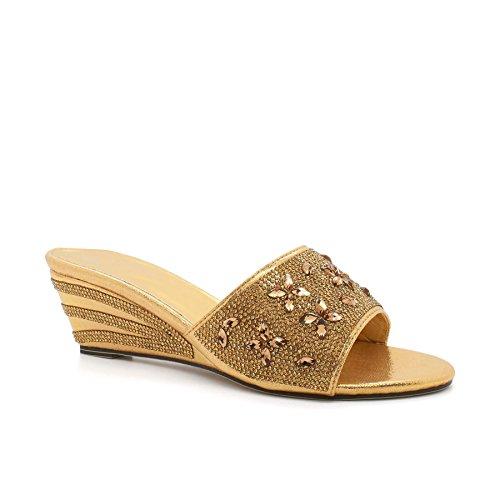 London Schuhe Adriana Damen Sandalen mit Wedge Heels