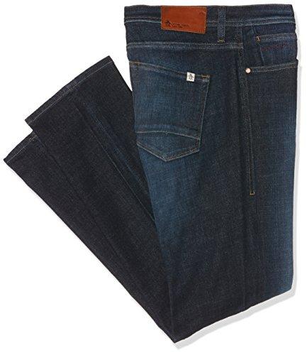 Original Penguin Herren Jeans mit Schmaler Passform (Slim) Regular Fit Denim Blue (Mid Stonewash)