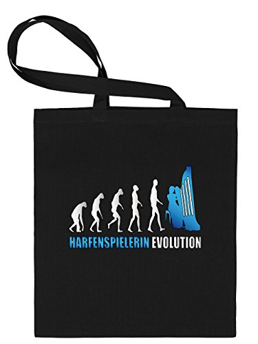 HARFENSPIELERIN EVOLUTION 4591 Stoffbeutel (Schwarz-Blau)