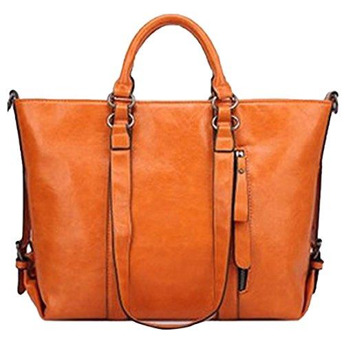 YYW Large Tote Bags, Borsa tote donna Deep Orange