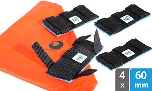 valonic Spanngurt Schoner | Neopren Pad | 4 Stück Kantenschutz | Gurtbreiten bis 60mm | Aufbewahrungsbeutel inklusive | Spanngurte Zubehör | Zurrgurt Schutz