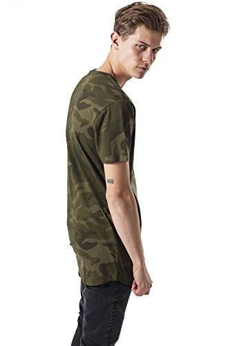 Urban Classics Herren T-Shirt Camo Shaped Long Tee Mehrfarbig (Olive Camo 775)