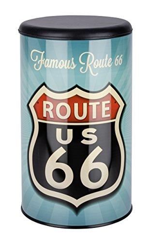 Wenko 21591100 Wäschetruhe Vintage Route 66 - Badhocker, Fassungsvermögen 54 L, Stahl, 35,5 x 60 x 35,5 cm, mehrfarbig - 2