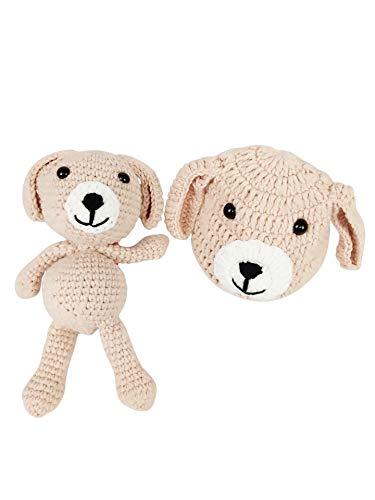 Jastore Neugeborenen Fotoshooting Kostüm Junge Mädchen Bär Mützen Fotographie Prop Crochet Geschenk Baby Kleidung neuborn (Stil 12)