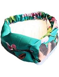 Auxma Ancha banda de yoga de la venda de la cabeza de la cinta (Verde)