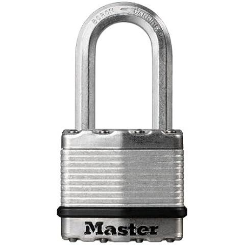 MASTER LOCK M1EURDLH candado - candados (Key lock, Fence, Cochera, Gate, Shed, Storage locker, Caja de herramientas, Workshop, Plata, Acero, Zinc, Boron carbide,