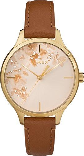 Timex Mixte Adulte Analogique Automatique Montre avec Bracelet en Cuir TW2R66900