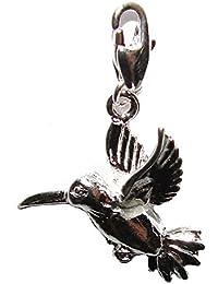 Bijoux Schmidt-Charme / pendentif oiseau colibri pour un bracelet à breloques, collier