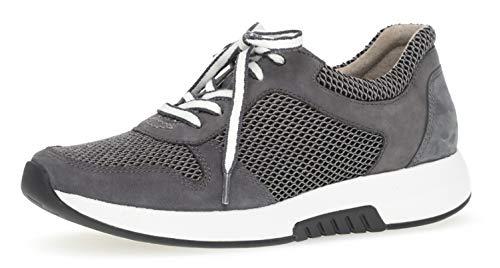 Gabor 26.946 Damen Sneaker,Low-Top Sneaker, Frauen,Halbschuh,Sportschuh,Schnürschuh,atmungsaktiv,Optifit- Wechselfußbett,Grey/River,6.5 UK