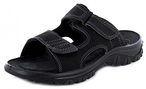 7201 Marco Tozzi Herren Leder Pantolette Black