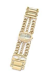 Just Cavalli - R7253184501 - Trinity - Montre Femme - Quartz Analogique - Cadran Doré - Bracelet Acier Doré