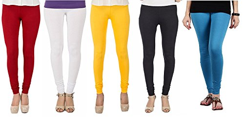 Isabella Cotton Lycra Leggings for Women Combo (Pack of 5)