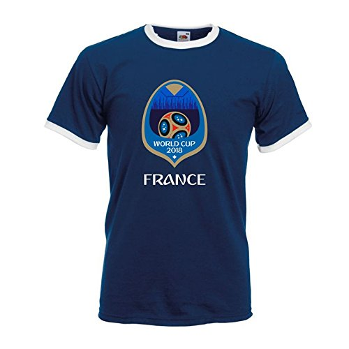 Unbekannt France World Cup 2018 Tee Shirt (Cup-rugby-shirt)
