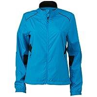 James & Nicholson Chaqueta de running para mujer, azul, Large