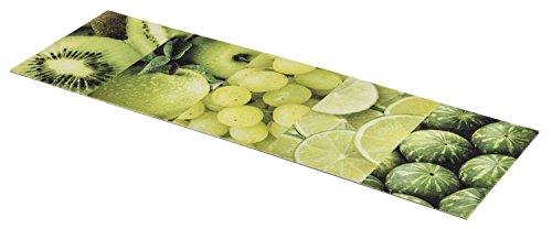 Küchenläufer / Küchenmatte / Dekoläufer für Küche und Bar / Teppich / Läüfer / Läufer / waschbare Küchenläufer / Küchendeko Modell Obst grün - Größe ca. 50 x 150 cm
