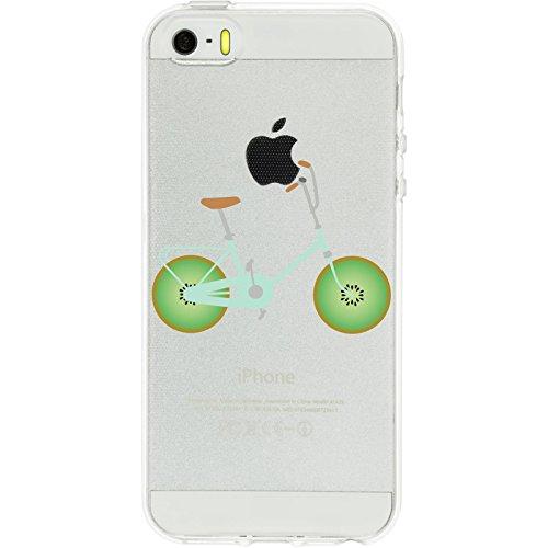 PhoneNatic Apple iPhone 5 / 5s / SE Coque en Silicone Bike M5 Case iPhone 5 / 5s / SE + films de protection Motif 1