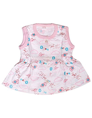 Babeezworld Regular Daily Wear Summer Baby Girl Cotton Half Sleeves Cut Sleeve Sleeveless Vest Jhabla Frock Dress (Kids Pack Of 1)  available at amazon for Rs.199