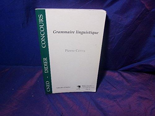 Grammaire linguistique par Pierre Cotte