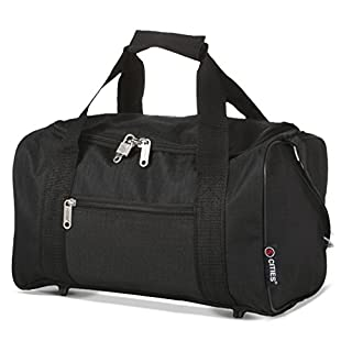 5 Cities Ryanair Holdall Sport Duffel Bag, 35 cm, 14 Liters, Black