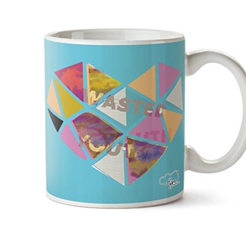 80 ' S Tee (hippowarehouse Wasted Youth Love Herz gedruckt Tasse 284ml Keramiktasse, keramik, blau, One Size (10oz))