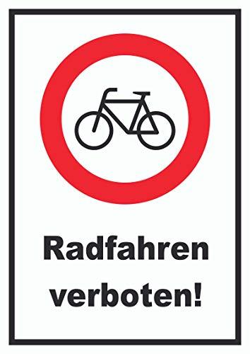HB-Druck Radfahren verboten Schild Keine Fahrräder A3 (297x420mm)