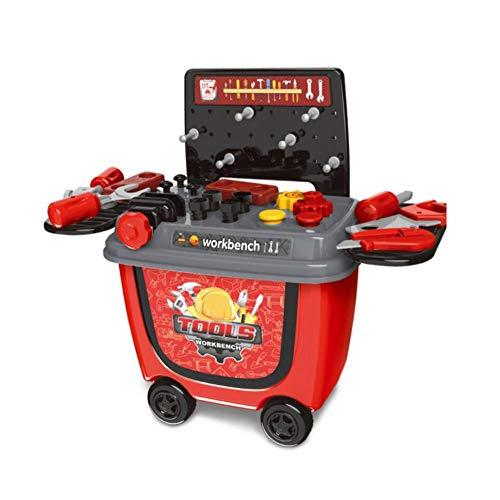 Lamptti Kleiner Supermarkt-Trolley - Grillwagen/Eiswagen/Werkzeugwagen - Spielzeug-Set für Kinder, Aktivitäten und frühzeitige Entwicklung - Geschenk für Jungen Mädchen und Kinder, Tool Cart, -