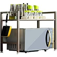 Estantería de Cocina Horno de microondas Estante de Almacenamiento de Metal b46d813da6ef