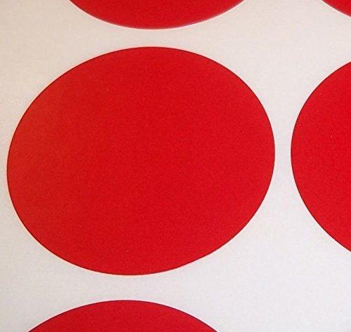 Pack Of 100 Grande 63mm Redondo / Circular Código De Color Lunares En blanco Precio Pegatinas Etiquetas - Elija Su Color/s (Rojo)
