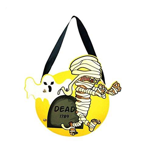 Fixuk Halloween-nette Kind-Handarbeit DIY Karikatur-Geist-Schloss-Kürbis-Beutel-Handtasche für Geschenk-Süßigkeit (Schloss Kostüme Halloween)