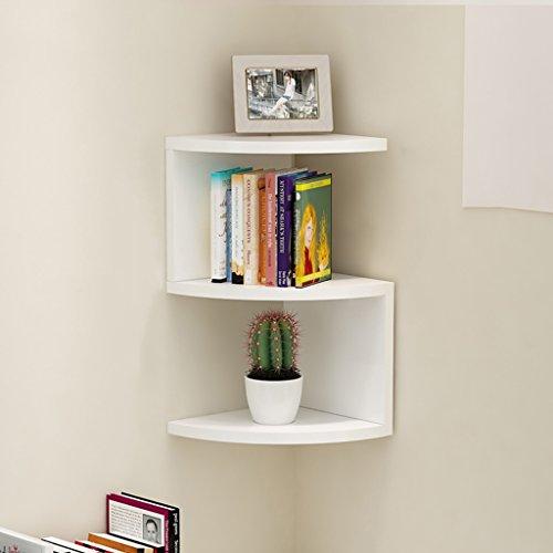 Büroschränke & -ablagen Eckstand Weiß Fachbodenregale Wandhängend Fächerförmige Trennwand...