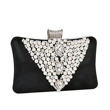 Women's Dreieck Pearl lupenreine Brillanten Abend Tasche Black