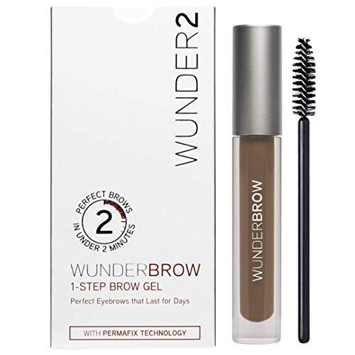 WUNDER2 Wunderbrow lang anhaltendes und wasserfestes Augenbrauengel, Farbe: Brunette