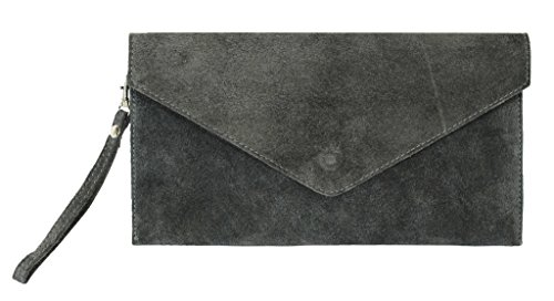 Big Handbag Shop, Borsetta da polso donna One Dark Grey