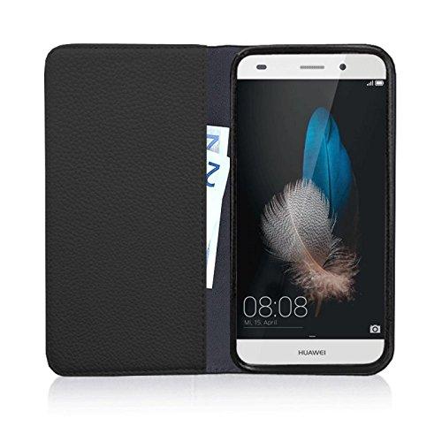 Für Apple iPhone --- 6s-Plus --- eSPee Hülle Schutzhülle Wallet Flip Case Cremeweiss mit Swarovski® Kristallen Kette UNZERBRECHLICHER Silikon Schale / Bumper und Magnetverschluss Schwarz