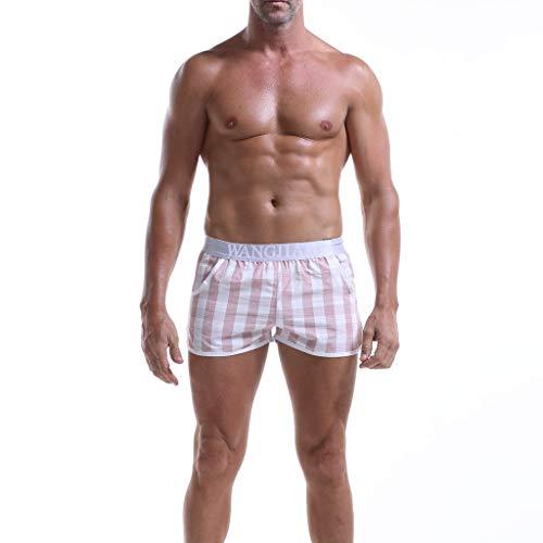 GreatestPAK Herren Boxershorts Baumwolle Kariert Lose Mode Sexy Höschen Komfort Freizeit Kurze ()