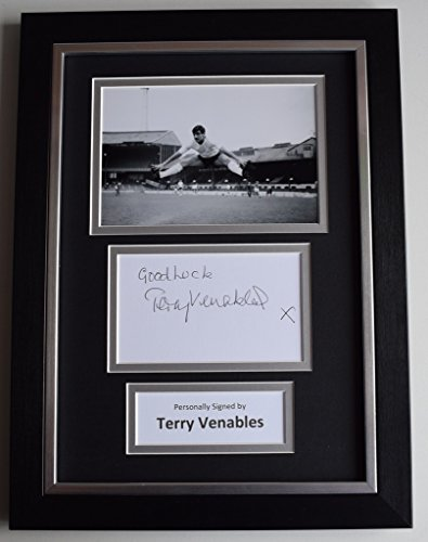 Sportagraphs-Terry-Venables-Signed-A4-FRAMED-photo-Autograph-display-Tottenham-Hotspur-COA-PERFECT-GIFT