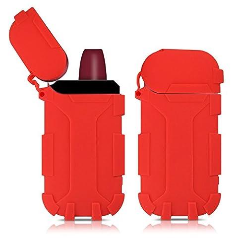 Housse pour chargeur portable IQOS - kwmobile Housse de protection TPU Coque silicone - Pochette pour starter-kit IQOS rouge