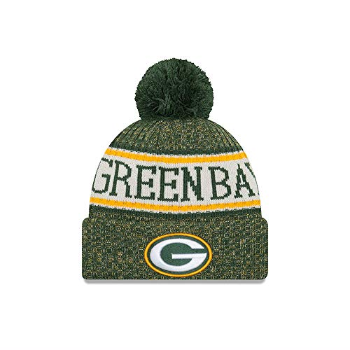 New Era ONF18 Sport Knit Bommelmütze Green Bay Packers Grün, Size:ONE Size