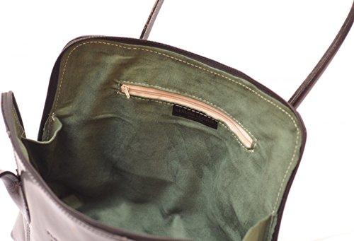 SUPERFLYBAGS Borsa a spalla o a mano in Vera Pelle Liscia e Lucida modello NICE made in Italy viola