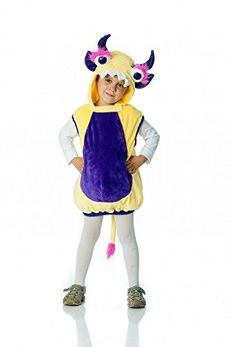 Monsterweste gelb-lila für Kinder, Verkleidung Monster Kostüm, -