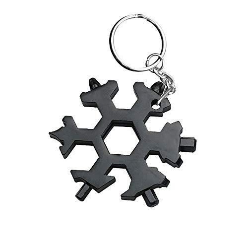 TAOtTAO Multi-Tool-Kombination kleine tragbare Outdoor-Schneeflocke Schlüsselring Snow Keychain Tools Schneeflocke Form Schlüssel Schlüsselbund Multifunktions-Gadget (G(Geschenk-Schlüsselanhänger)) -