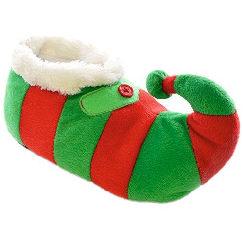 childrens-kids-footwear-novelty-christmas-elf-slippers-with-stripe-print-fur-uk-11-12-eur-30-31