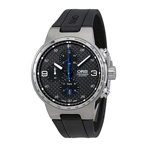 Oris Williams Chronograph Steel on Black Rubber Strap Men's Watch 77477174164RS