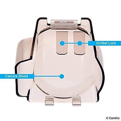 Sun Hood (Grey) + 2in1 Gimbal Lock and Camera Shield (Transparent Grey) for DJI Mavic Pro/Platinum - Locks The Position of The Gimbal - Shields The Camera Against Impacts